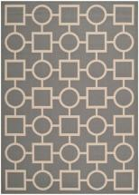 "Safavieh Courtyard Anthracite / Beige 5 ' 3"" x 7 ' 7"" Indoor/Outdoor Area Rug"