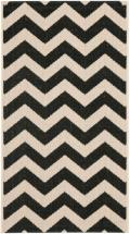 "Safavieh Courtyard Black / Beige 2 ' 7"" x 5 ' Indoor/Outdoor Area Rug"