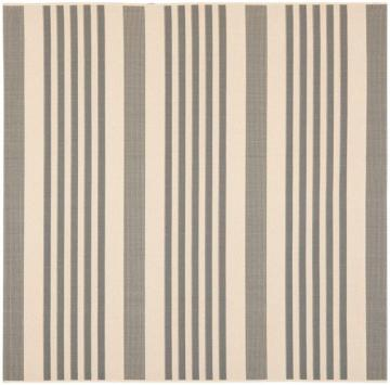 "Safavieh Courtyard Grey / Bone 5 ' 3"" x 5 ' 3"" Indoor/Outdoor Square Area Rug"