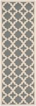 "Safavieh Courtyard Anthracite / Beige 2 ' 3"" x 10 ' Indoor/Outdoor Runner"