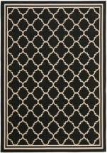 "Safavieh Courtyard Black / Beige 6 ' 7"" x 9 ' 6"" Indoor/Outdoor Area Rug"