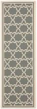 "Safavieh Courtyard Anthracite / Beige 2 ' 3"" x 6 ' 7"" Indoor/Outdoor Runner"