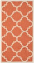 "Safavieh Courtyard Terracotta 2 ' 7"" x 5 ' Indoor/Outdoor Area Rug"