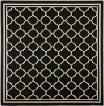Safavieh Courtyard Black / Beige 4 ' x 4 ' Indoor/Outdoor Square Area Rug