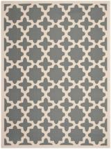 "Safavieh Courtyard Anthracite / Beige 6 ' 7"" x 9 ' 6"" Indoor/Outdoor Area Rug"