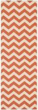 "Safavieh Courtyard Terracotta / Beige 2 ' 3"" x 6 ' 7"" Indoor/Outdoor Runner"