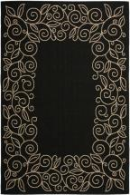 Safavieh Courtyard Black / Beige 4 Feet x 5 Feet 7 Inch Indoor/Outdoor Area Rug