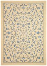 "Safavieh Courtyard Natural / Blue 6 ' 7"" x 9 ' 6"" Indoor/Outdoor Area Rug"