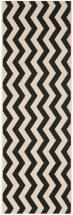 "Safavieh Courtyard Black / Beige 2 ' 3"" x 6 ' 7"" Indoor/Outdoor Runner"