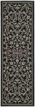 "Safavieh Courtyard Black / Sand 2 ' 3"" x 12 ' Indoor/Outdoor Runner"