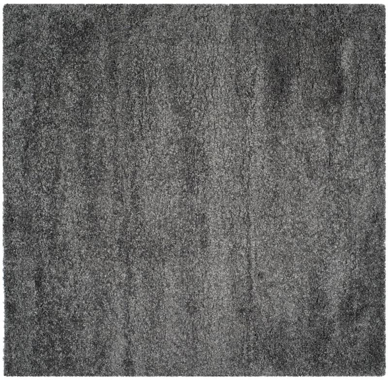 "Safavieh California Shag Dark Grey 6' 7"" X 6' 7"" Square Area Rug"