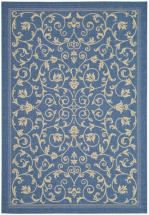 Safavieh Courtyard Blue / Natural 8 ' x 11 ' Indoor/Outdoor Area Rug