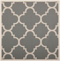 Safavieh Courtyard Grey / Beige 4 ' x 4 ' Indoor/Outdoor Square Area Rug