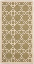 "Safavieh Courtyard Green / Beige 2 ' 7"" x 5 ' Indoor/Outdoor Area Rug"