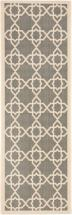 "Safavieh Courtyard Grey / Beige 2 ' 3"" x 6 ' 7"" Indoor/Outdoor Runner"