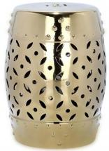 Safavieh Lattice Coin Patio Stool in Gold