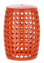 Safavieh Lacey Garden Stool In Orange