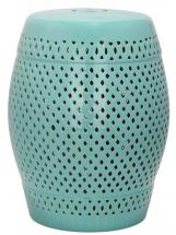 Safavieh Diamond Patio Stool in Robin's Egg Blue