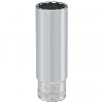 Husky 1/2 Inch Drive 17mm 12-Point Metric Deep Socket