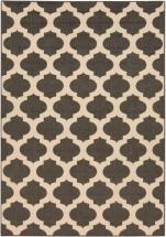 "Home Decorators Collection Aggie Black 3' 6"" x 5' 6"" Indoor/Outdoor Area Rug"