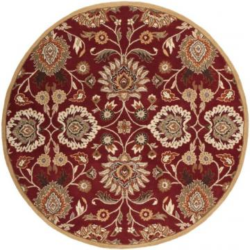 Home Decorators Collection Cambrai Burgundy 4'x4' Round Indoor Area Rug