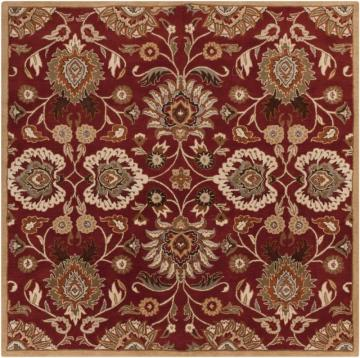 Home Decorators Collection Cambrai Burgundy 6'x6' Square Indoor Area Rug