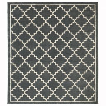 Home HDC 8 ft. x 8 ft. Winslow Dark Slate Square Area Rug
