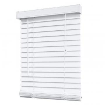 "Home 2"" Faux Wood Blind, White - 48"" x 48"""