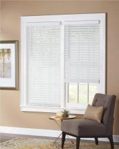 "Home HDC 36x64 2"" Cordless Fauxwood Blind White"