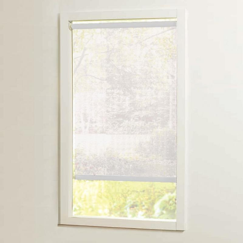 Home 55 in x72in White Cut-to-Size Solar shades
