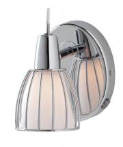 Home Balbino Wall Light 1L, Chrome Finish with White Opal Glass