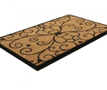 Home Iron Work Scroll Coir Door Mat