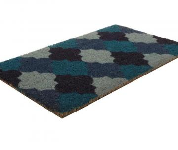 Home Moroccan Tile Coir Door Mat