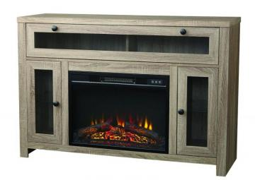 "Home Laurelcrest 48"" Paper Laminate Media Fireplace Console In Weathered Oak Finish"