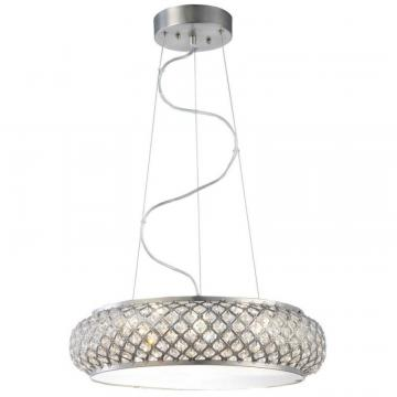 Home 6 Light LED Brushed Stainless Steel Pendant