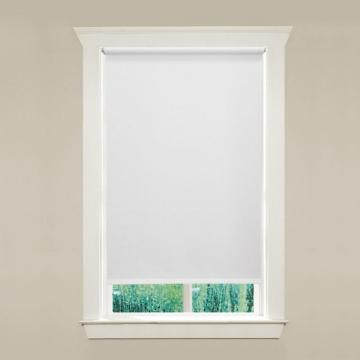 "Hampton Bay 37"" x 78"" 6mil White Vinyl Roller Shades"