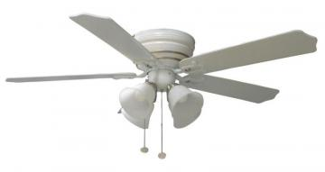 Hampton Bay Carriagehouse White Ceiling Fan With Nickel Accent - 44""