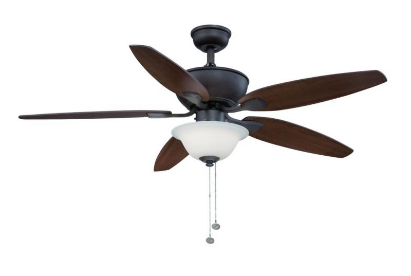 "Hampton Bay Carrolton II LED 52"". Oil Rubbed Bronze Ceiling Fan"