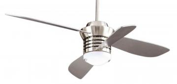 "Hampton Bay Pilot Blade Ceiling Fan"" Brushed Nickel Finish"