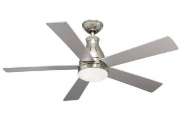 "Hampton Bay 5 Blade 48""  LED Downlight Nickel Ceiling Fan"