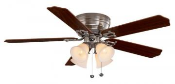 Hampton Bay Carriage House Brushed Nickel Ceiling Fan -  52""