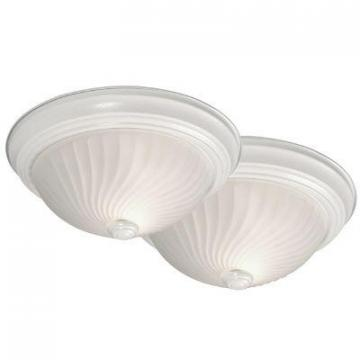 Hampton Bay Twin Pack Flush Mount With Frosted Glass