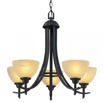 "Hampton Bay 26"" Chandelier, Old Weathered Bronze Finish"