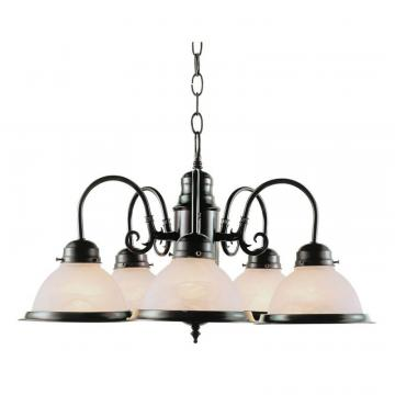 Hampton Bay Bronze 5 Down Kitchen Chandelier