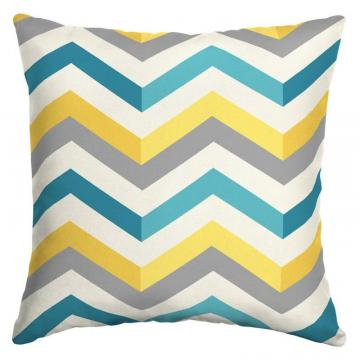 Hampton Bay Geo Multi Chevron Square Outdoor Throw Pillow