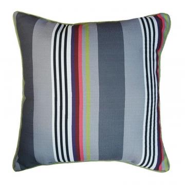 "Hampton Bay 17"" Pillow-Funk Stripe with Luxe Piping"