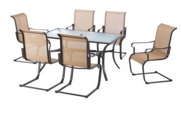 Hampton Bay Belleville 7-Piece C-Spring Dining Set