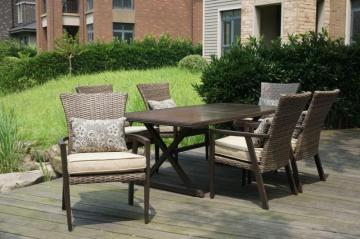 Hampton Bay Thousand Oaks 7-Piece Patio Dining Set