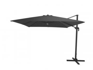 Hampton Bay 10' LED Square Offset Umbrella - Graphite