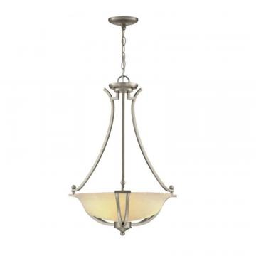 Hampton Bay 18.875. Pendant, Brushed Nickel Finish